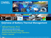 coolingZONE 14 Archive:  Thermal Management of Batteries in Automotive