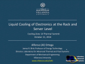 coolingZONE 14 Archive: Liquid Cooling at the Rack and Server Level
