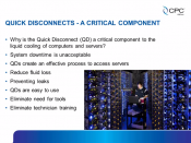 coolingZONE 14 Archive:   The Role of Quick Disconnect Couplings in Liquid Cooling: Five Attributes